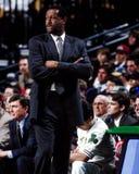 M L Carr, premier entraîneur de Celtics de Boston Image stock