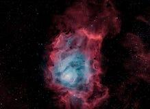 M8, la nebulosa della laguna, in bicolore a banda stretta fotografia stock