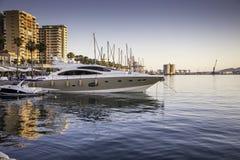 Málaga port Stock Image