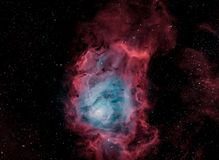 M8, The Lagoon Nebula, In Narrowband Bicolor stock photography
