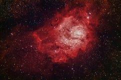 M8 - Las nebulosas de la laguna Foto de archivo libre de regalías