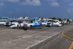 MÂLE, MALDIVES - 11 février 2018 - aéroport international masculin des Maldives Photo stock