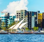 MÂLE, MALDIVES - 18 NOVEMBRE 2016 : Vue de la ville du mâle - images stock