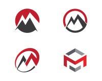 M Letter Business Finance professioneel embleemmalplaatje Stock Afbeelding