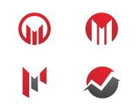 M Letter Business Finance professioneel embleemmalplaatje Stock Foto