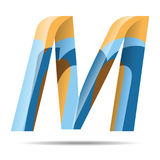 M Letter Colorful Modern alfabetembleem Stock Foto