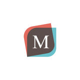 M letter icon retro logo design. Vintage company sign vector des Royalty Free Stock Images