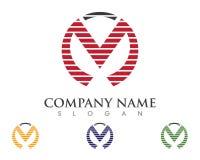 M Letter Logo Business Photos libres de droits