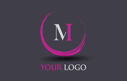 M Letter Logo Design Photos libres de droits