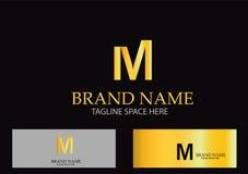 M Letter Logo Design Vector Photographie stock libre de droits