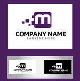 M Letter Logo Design Vetora Business Card Foto de Stock