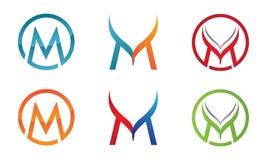 M Letter Logo stock illustration