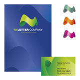 M letter logo 03 Royalty Free Stock Photos