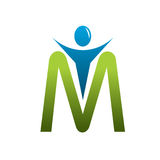 M letter man logo Stock Photography