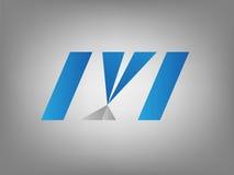 M listu logo Zdjęcie Stock