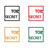 Top secret with thumb stock icon, flat design, vector illustration - Vector. EPS file available. see more images related vector illustration