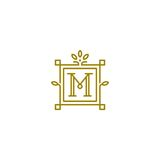 M logo Obraz Royalty Free