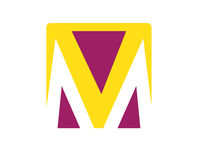 M Logo Concept Design Photo stock