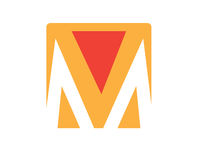 M Logo Concept Design Images stock