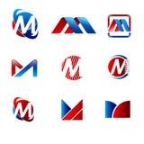 M logo M listu ikony projekta wektoru ilustracja zdjęcie stock