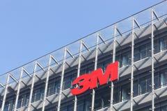 3M logo på en byggnad Royaltyfri Foto