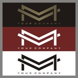 M logo. M and V logo for your company Royalty Free Stock Image