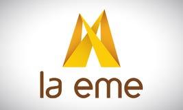M - logotipo Imagens de Stock