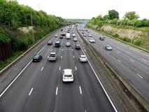 M25 London Orbital Motorway near Junction 17 in Hertfordshire, UK royalty free stock photos