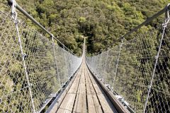 Modern Tibetan bridge royalty free stock images