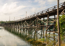 Mon Bridge in Songkhla Buri Stock Photos