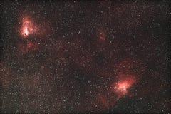 M16 & M17 - межзвёздное облако орла и омеги Стоковое Изображение RF