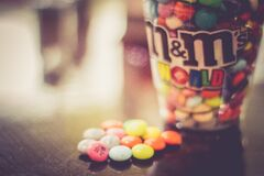 M&M candies Stock Images