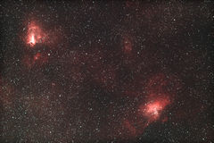 M16 & M17 - Eagle and Omega nebula Royalty Free Stock Image
