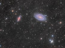 M82 and M81 Galaxy Group stock image