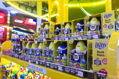 M&M ` s巧克力糖 图库摄影