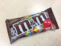 M&M ` s牛奶巧克力糖果 库存照片