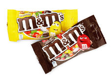 M&M`s milk chocolate candies Royalty Free Stock Images
