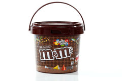 M&M's Party Bucket of confectionary candy Royalty Free Stock Photo