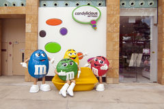M&M sweet candy model Royalty Free Stock Images