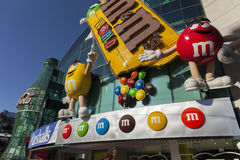M&M World i Las Vegas, NV på Maj 20, 2013 Arkivbild