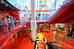 M&M World lager Royaltyfria Bilder