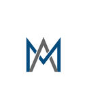 M or MA initial icon 1 financial business insurance abstract Royalty Free Stock Photography
