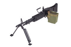 M60 machine gun. Isolated on white Stock Photo