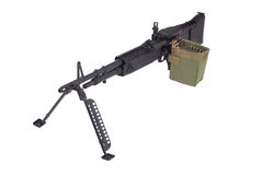 M60 machine gun. Isolated on white Stock Image