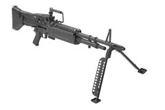 M60 machine gun. Isolated on a white background Royalty Free Stock Photos