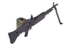 M60 machine gun. Isolated on a white background Royalty Free Stock Photo