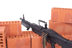 M60 machine gun. On position Royalty Free Stock Images