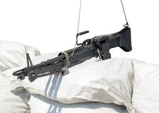 M60 machine gun. On position Stock Image