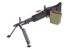 M60 machine gun on position Stock Photo