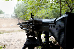 M60 Machinegun - Vietnam. M60 Machine gun in Vietnam Royalty Free Stock Photos